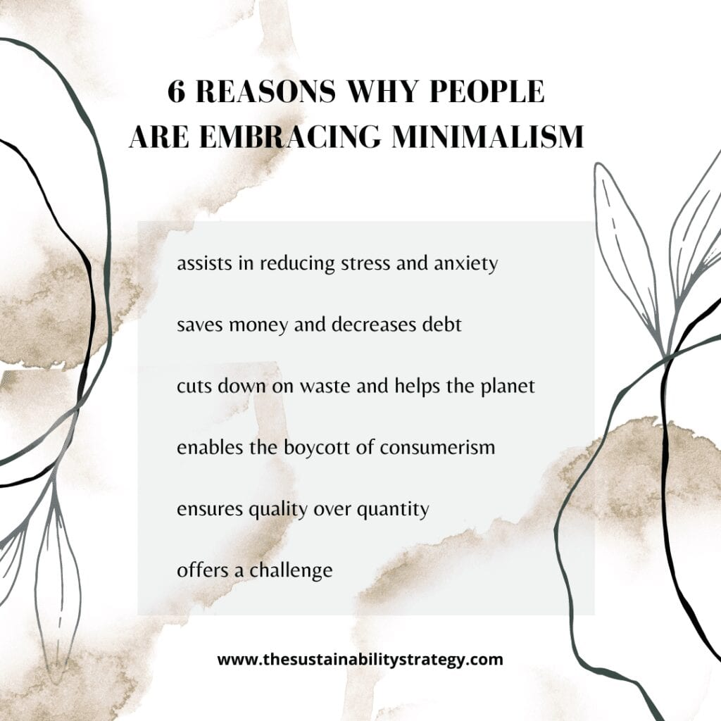 6 REASONS WHY PEOPLE ARE BECOMING MINIMALIST